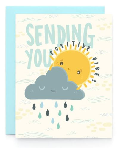 Positive Vibes Sympathy Card
