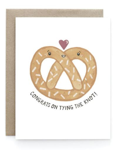 Pretzel Wedding Card