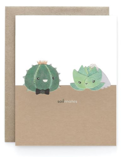 Soilmates Wedding Card