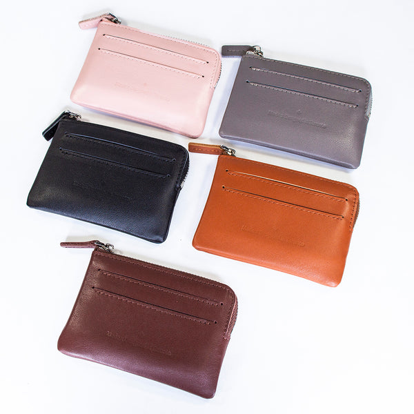 'Avenue' Top Zip Card Holder Coin Keeper