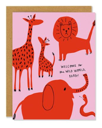 Baby Wild Animals Card