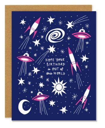Birthday Spaceships Card