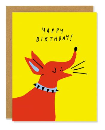 Yappy Birthday Card