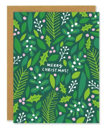 Badger+Burke - Mistletoe and Holly Card