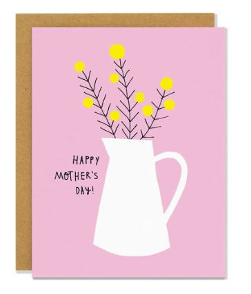 Mom Flower Jug Card