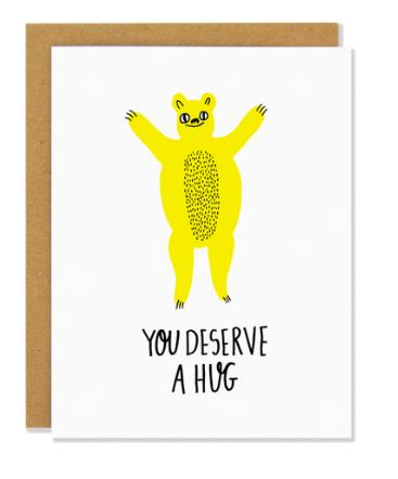 Bear Hug Sympathy Card