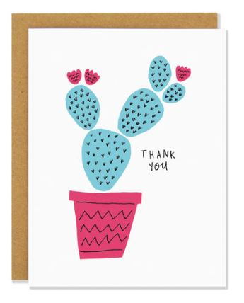 Thank You Cactus Card