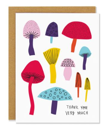 Thank You Mushrooms Card