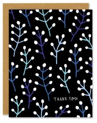 Thank You Willow Branches Card