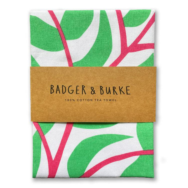 Badger + Burke - Flowering Plant Tea Towel
