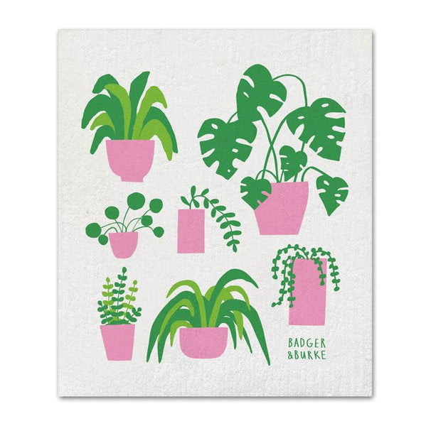 Badger + Burke - House Plants Sponge Cloth