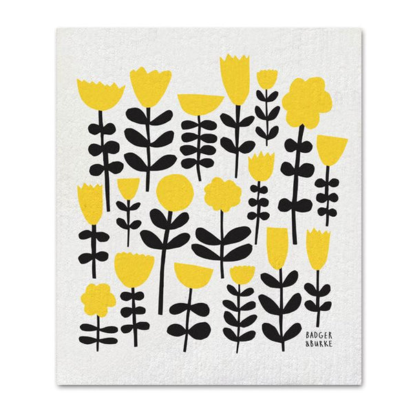 Badger + Burke - Yellow Flowers Sponge Cloth