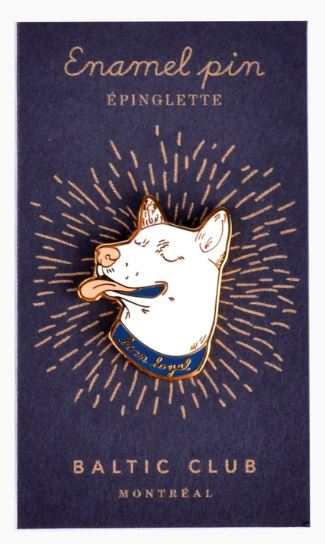 Baltic Club - Born Loyal Dog Enamel Pin