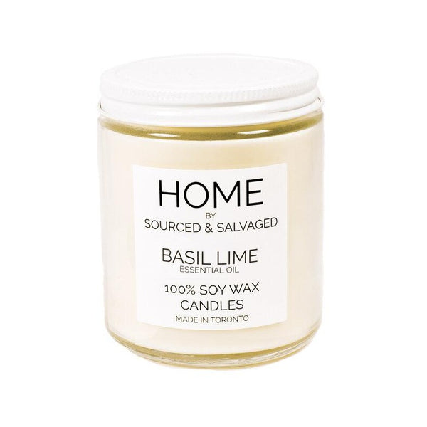 Sourced & Salvaged Soy Candle - Basil Lime