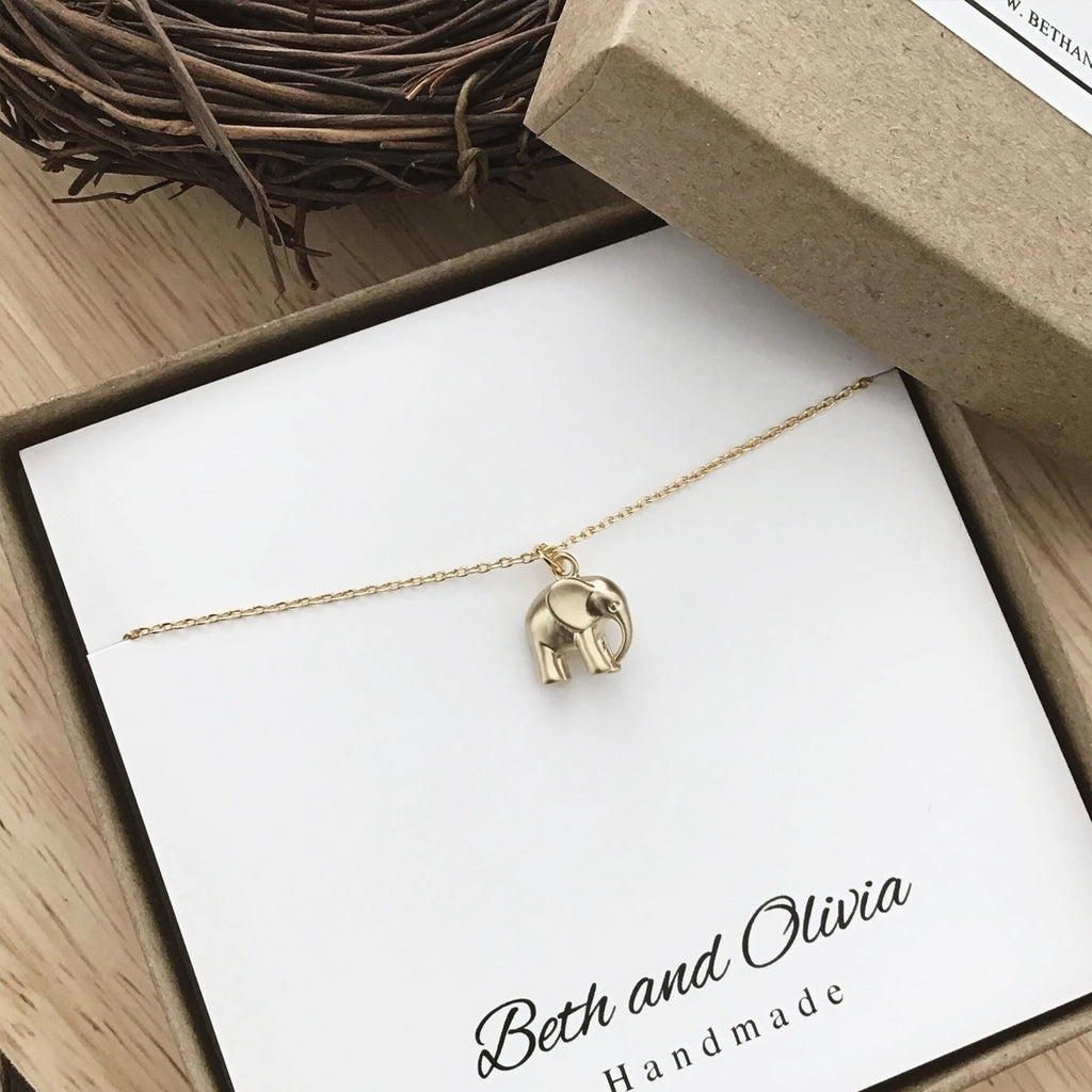 Beth + Olivia - GOLD ELEPHANT NECKLACE