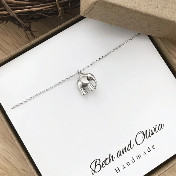 Beth + Olivia - SILVER ELEPHANT NECKLACE