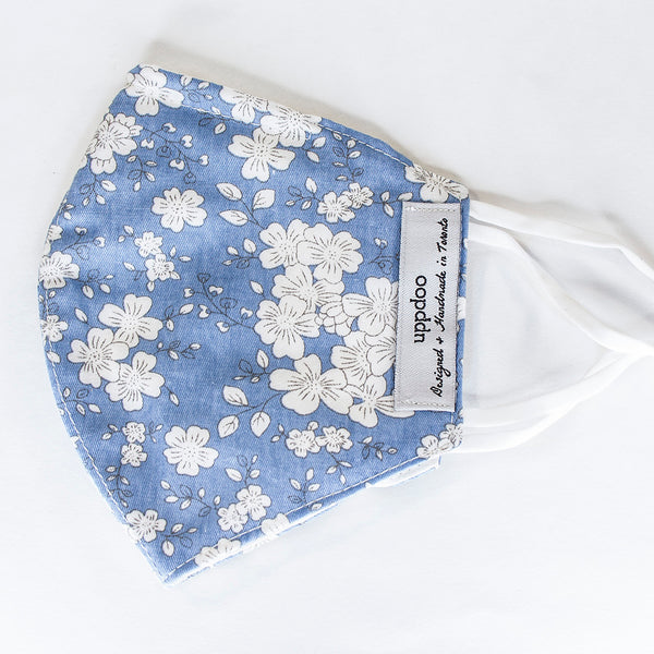 Non-medical Adult Mask - Blue Cotton Flower