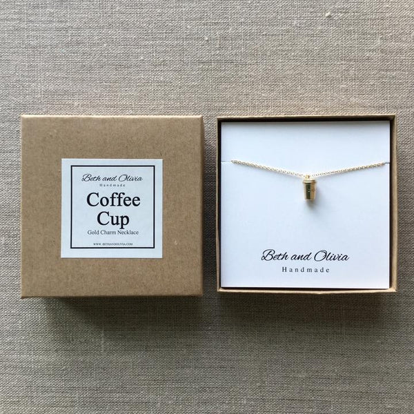 Beth + Olivia - GOLD COFFEE CUP NECKLACE