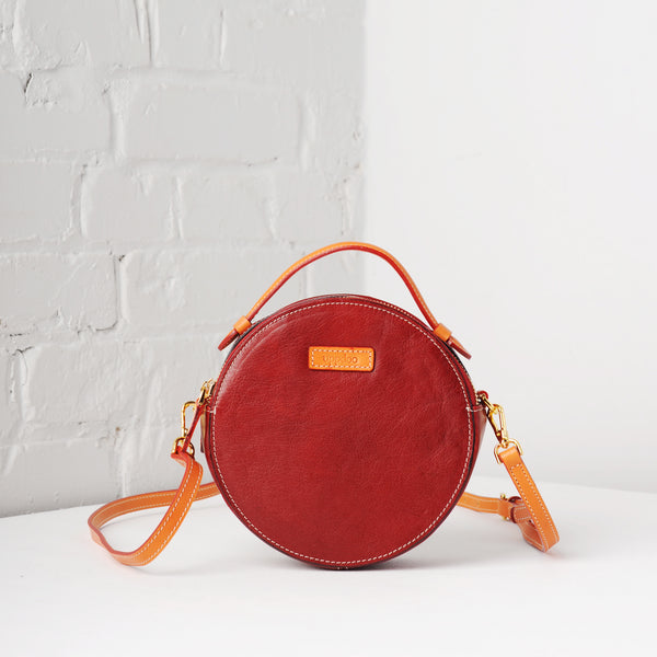 Full Circle Mini Crossbody (Bordeaux)