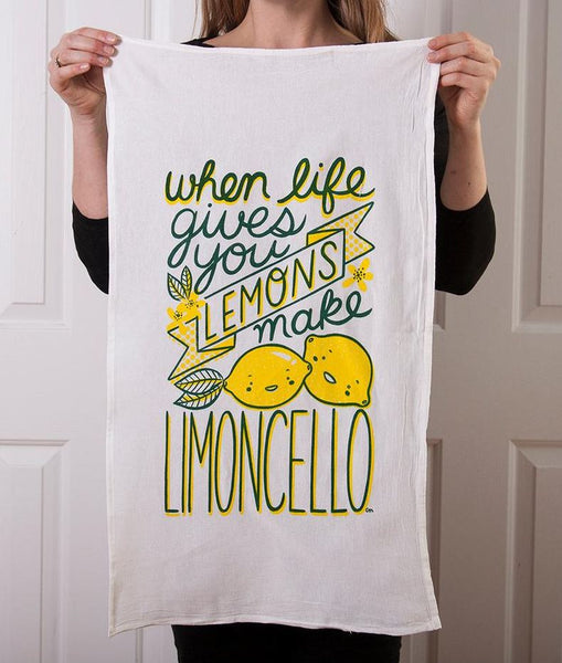 Claire Manning - Tea Towel with Limoncello