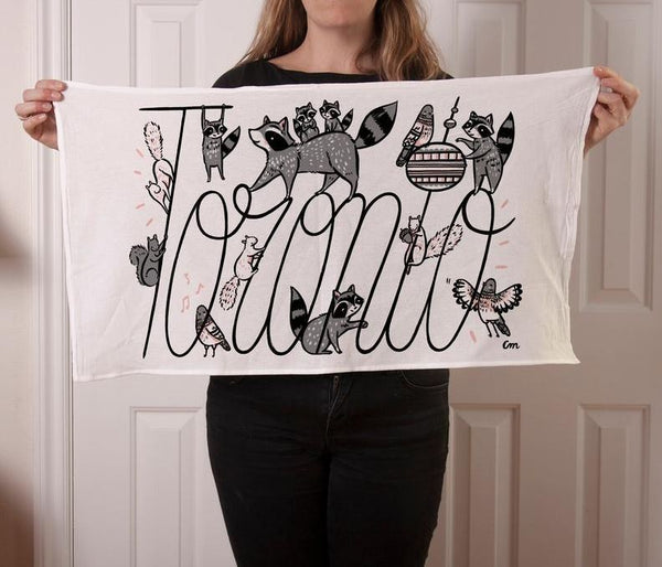 Claire Manning - Tea Towel with Toronto