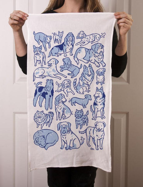 Claire Manning - Tea Towel with Total Dogs