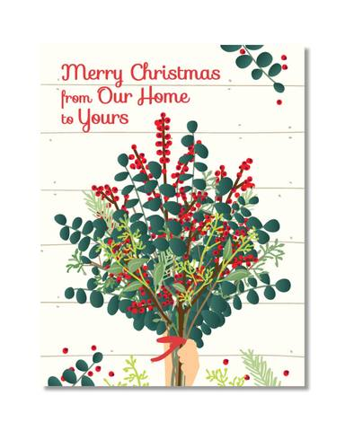 Design by Val  -  Bouquet Holiday Card