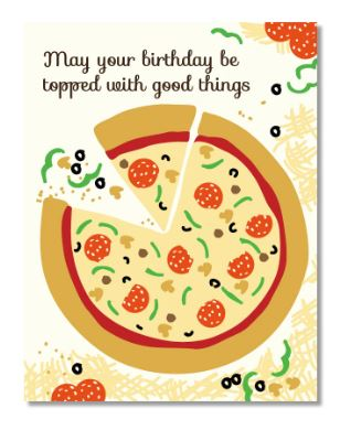 Birthday Pizza Card