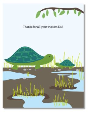 Turtles Dad Card