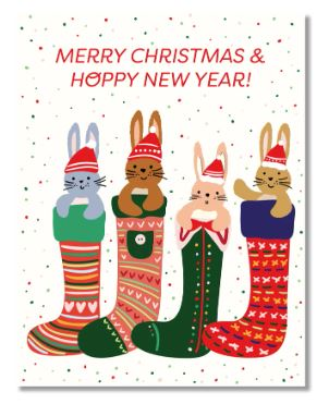 Design by Val - Hoppy Christmas Card