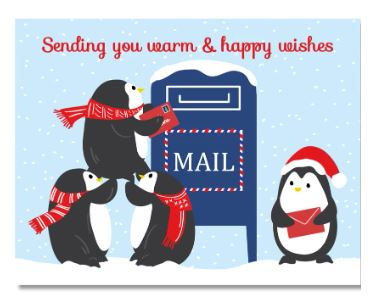 Design by Val - Penguin Mail Card