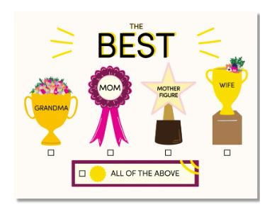 The Best Mom Card