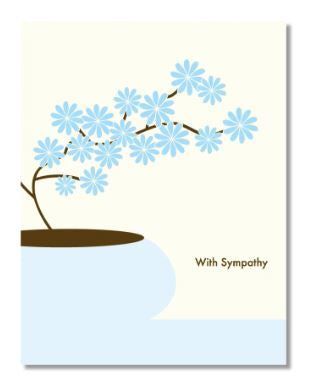 With Sympathy Flowers Card