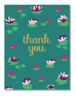 Thank You Water Lilies Card