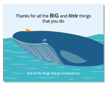 Thank You Whales Card