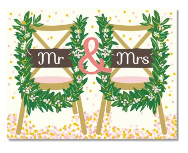 Wedding Chairs Card