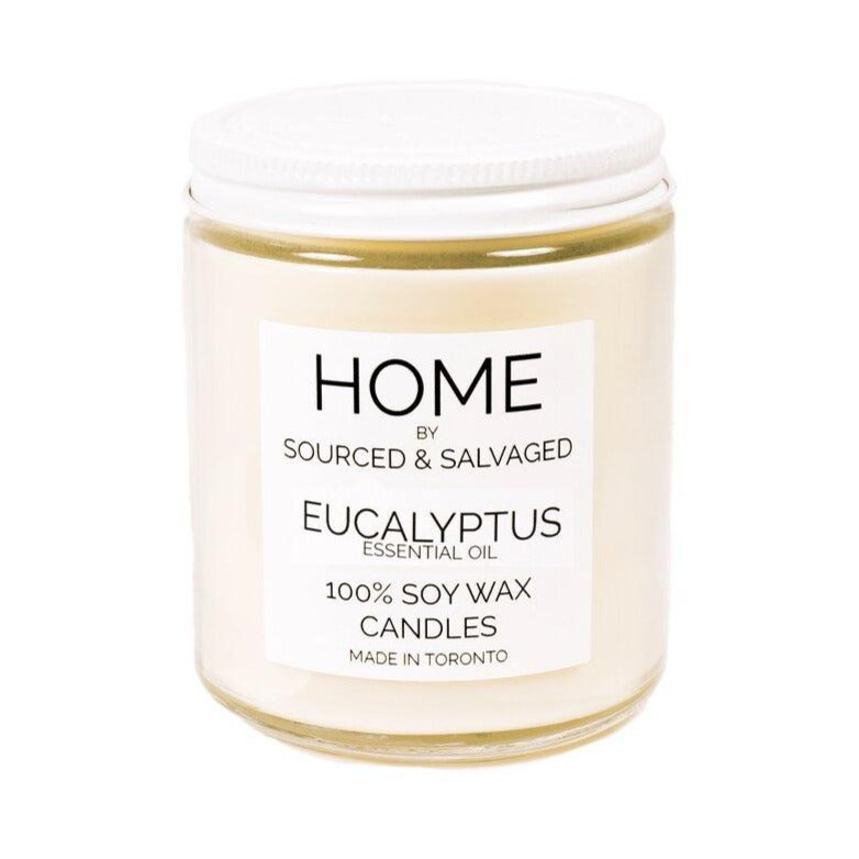 Sourced and Salvaged Soy Candle - Eucalyptus