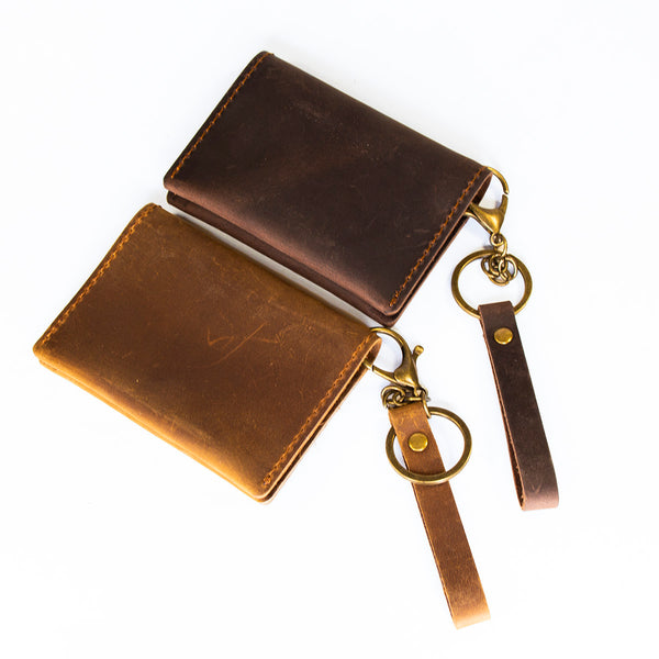 'Explore' Bi-fold Card Case with Key Chain