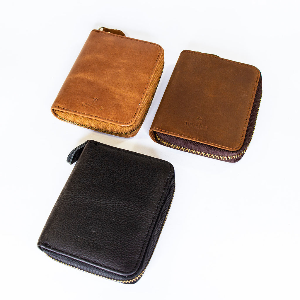 'Explore' Zip Round Verticle Bi-fold Wallet