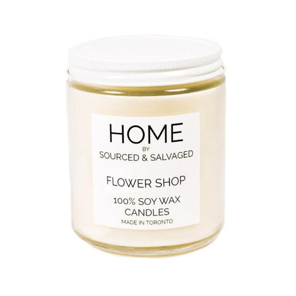 Sourced & Salvaged Soy Candle - Flower Shop