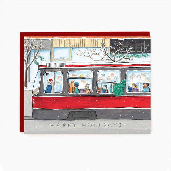 Made in Brockton Village - Toronto Old Streetcar Holiday Card