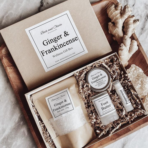 Beth + Olivia - GINGER AND FRANKINCENSE WELLNESS GIFT BOX