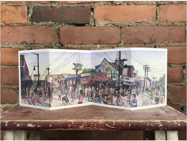 Gotamago - Kensington Market Accordion Card