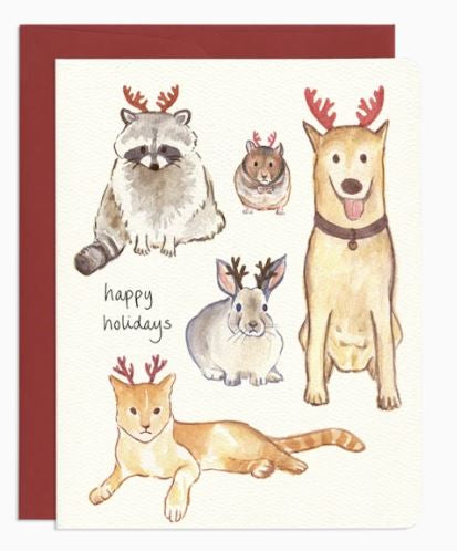 Holiday Antlers Card