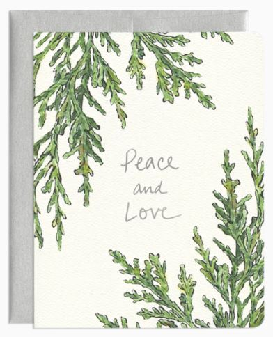 Gotamago - Peace and Love Juniper Card
