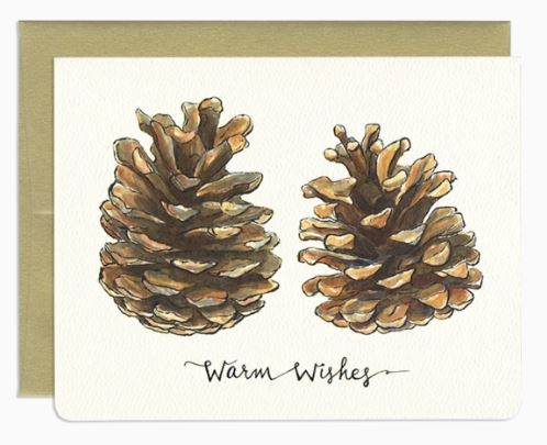 Gotamago - Holiday Pinecones Card