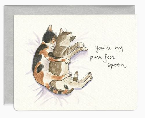 Purrfect Spoon Card