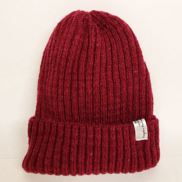 Uppdoo Studio - Wool Blended Beanie Toque Hat (Maroon)