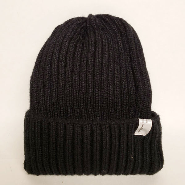 Uppdoo Studio - Wool Blended Beanie Toque Hat (Black)