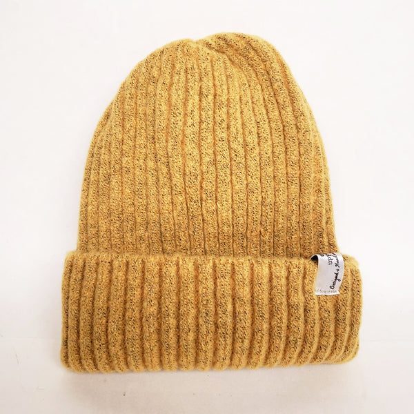 Uppdoo Studio - Wool Blended Beanie Toque Hat (Mustard)